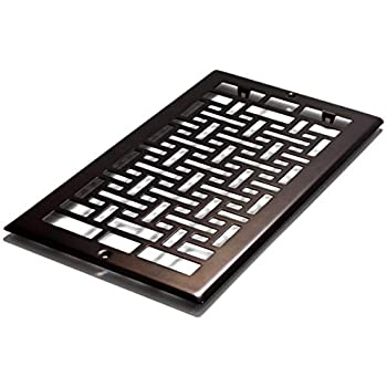 Decor Grates AJL612R-RB Oriental Return, 6-Inch by 12-Inch, Rubbed Bronze