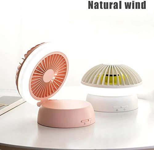 Mushroom Night Light USB Charging Portable Handheld Electric Fan Air Conditioner Cooler Cooling Fan Summer Desk Table