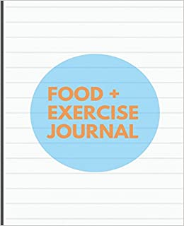 food and exercise journal striped cover design 7 5 x 9 25