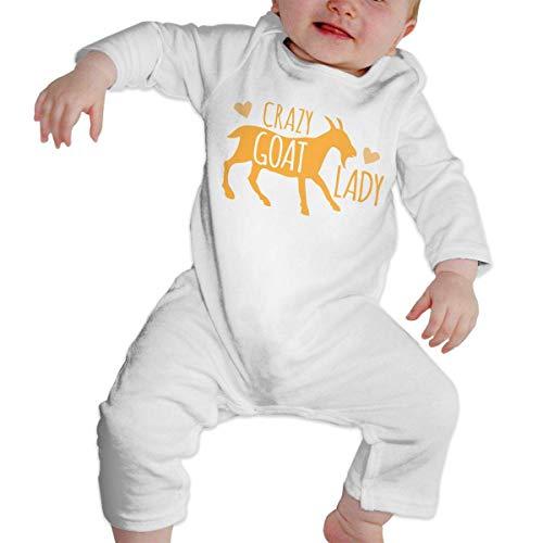 Crazy Goat Lady Baby Crawler 100% Cotton Long Sleeve Jumpsuits - Crawler Goat