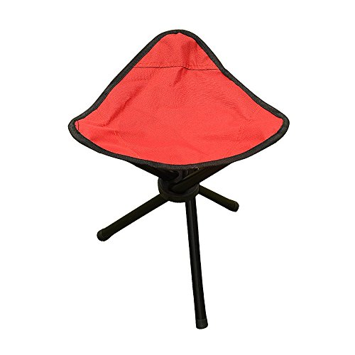 PiscatorZone Tripod Stool, Tri-Leg 3-Legged Stool, Camping Seat-Foldable, Portable, Canvas Stool for Travel,Backpacking, Gardening, Fishing, Hiking, Mountaineering, Outdoor & Indoor Recreation