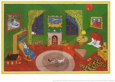 Goodnight Moonfish Art Print Children/'s Illustration  Nursery Art