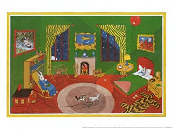 Amazon.com: Goodnight Moon Art Poster Print by Clement Hurd, 21x15 ...