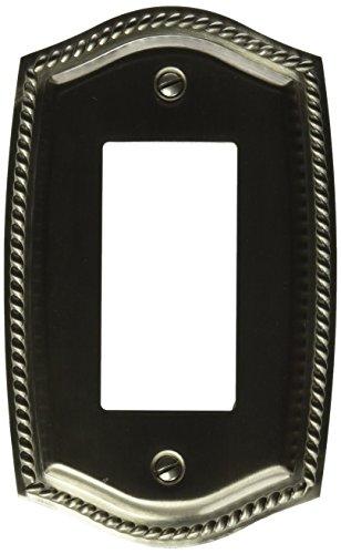 Baldwin 4796150 Single GFCI Rope Switch Plate, Satin Nickel