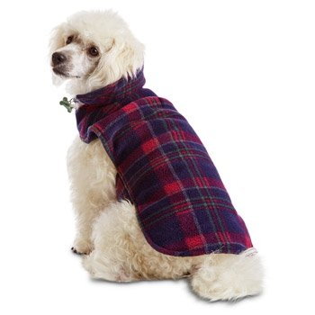 Good2Go Purple Plaid Reversible Cozy Coat Dog Jacket~Large/X-Large