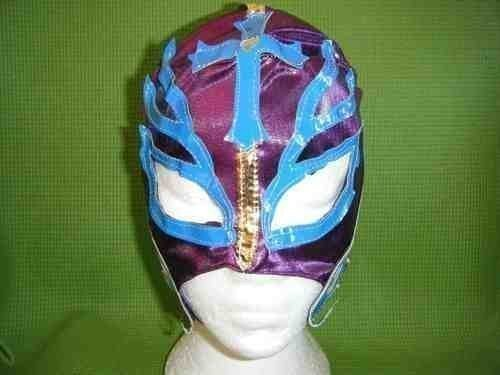 SOPHZZZZ TOY SHOP Purple Rey Mysterio Wrestling Mask Fancy Dress Up Costume Outfit Mask Mexican Childrens Boys Girls Role Play Superhero Wrestler Super Hero Restling (Mysterio Spiderman Costume)