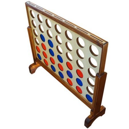 Yard Games Us Giant Wooden Board 4 In A Row Game by yardgames.us