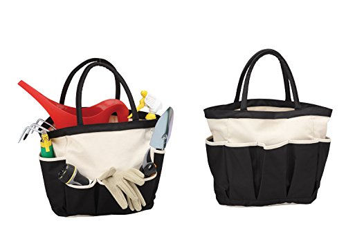 Travelwell Garden Tool Tote Home Organizer -Black