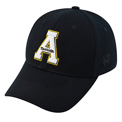 Top of the World NCAA Appalachian State Mountaineers Memory Fit Wool Blend Hat, One Size, Black
