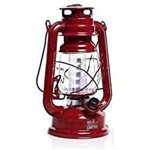 Red Olde Brooklyn Lantern LED Light Camping Antique Lamp By Spark Innovators