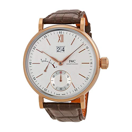 (IWC Portofino Silver Dial 18kt Rose Gold Mens Watch IW516102 )