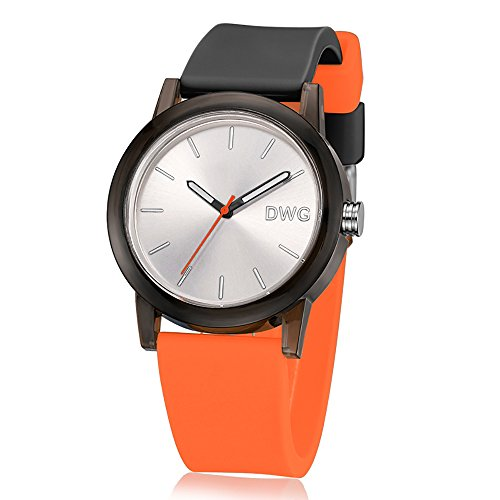 Unisex Silicone Sports Quartz Watches Green - 4