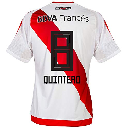 adidas River Plate Home Quintero 8 Jersey 2016/2017 (Fan Style Printing) - M