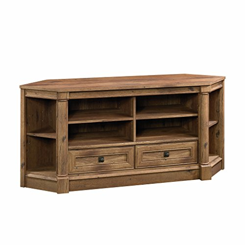 "Sauder 420714 Palladia Corner Entertainment Credenza, For TVs up to 60"", Vintage Oak Finish"