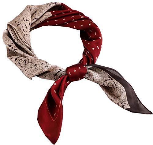 Square Silk Feeling Neckerchief Handbag Hair Scarf Bracelet Gift For Women/Men (FGJ01-23)