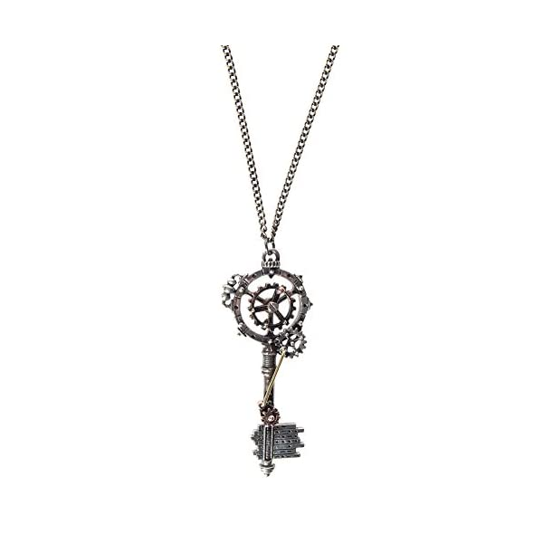 Alchemy Gothic Unisex Adult's Septagramic Coercion Gearwheel Key Necklace 3
