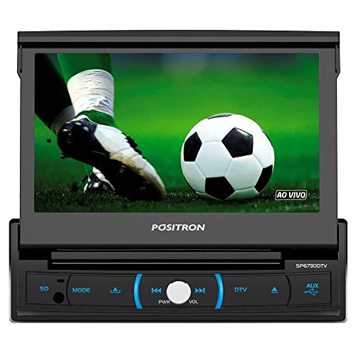 DVD Player Automotivo, Pósitron, DVD SP6320 BT, DVD Automotivo, Preto