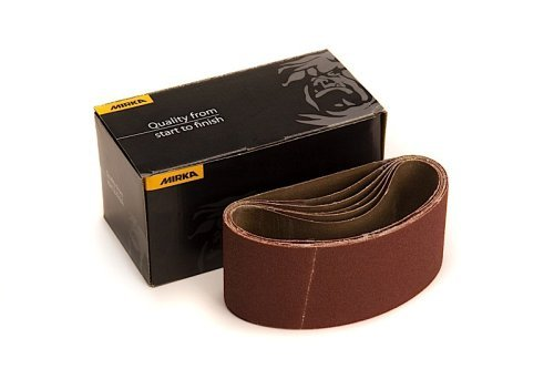 Mirka 57-2.5-14-AP 2.5-Inch by 14-Inch Portable Abrasive Belt by weight Cloth. Assortment Pack (1each 80,100,120,150,180) - Portable Belt Pack