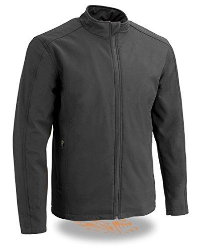 Milwaukee Performance Men's Waterproof Lightweight Zipper Front Soft Shell Jacket (Black, 2X)