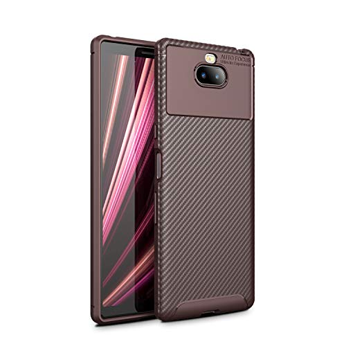(for Sony Xperia XA3 Ultra Backcover FugouSell Shockproof Case Protects - Brown)