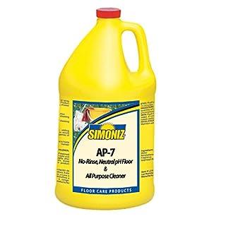 Simoniz P2666004 AP-7 All-Purpose and Neutral pH Floor Cleaner, 1 gal Bottles per Case (Pack of 4)
