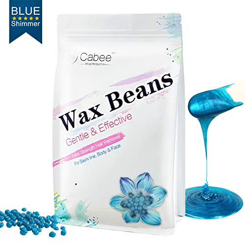 - Hard Wax Beans for Waxing - Painless Wax Beads Depilatory for Wax Warmer Kit - Stripless Brazilian Bikini for Women and Men (1lb, Blue,Chamomile)