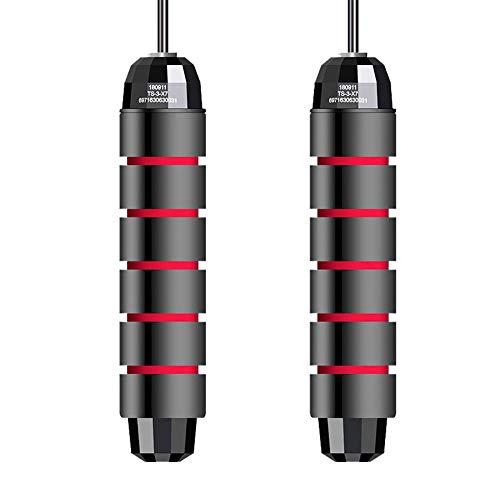 Aileese Jump Rope Tangle-Free with Ball Bearings Rapid Speed Skipping Rope Cable, Adjustable Jumping Ropes with 6…