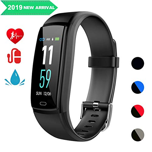 Mgaolo Fitness Tracker,Smart Watch Activity Tracker Sports Band Bracelet Waterproof Bluetooth Wristband with Heart Rate Monitor Pedometer Sleep Monitor Calorie Step Counter Blood Pressure(Black)