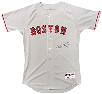 Mike Lowell Autographed Authentic Boston Red Sox Grey Jersey at ... 9bce9b6e539