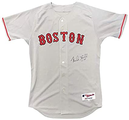 online store 096fa e34ff Mike Lowell Autographed Authentic Boston Red Sox Grey Jersey ...