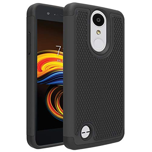 LG Aristo 3/LG Aristo 2/LG Tribute Empire/K8S/Tribute Dynasty/Phoenix 4/Rebel 4/Zone 4/Rebel 3 LTE/Risio 3/LG K8+ Plus/Phoenix 3/Fortune 2 Phone Case, OEAGO [Shockproof] Hybrid Dual Layer Case, Black (Phone Case For Lg 3)