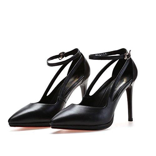 Les de Femmes Hauts Professionnelles Black Talons de Jours Tous des Chaussures Profonds Talons Hauts Vêtements Peu Travail v8xpdwxE