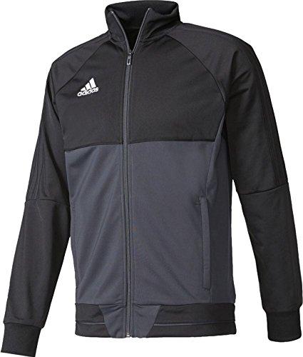 現実的浸す高速道路アディダス adidas サッカートレーニングウェア TIRO17 ニットジャケット メンズ S(身長162-168cm) 国内正規品 AY2875 ブラック/ダークグレー