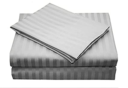 Ikea a fili bedskirt colore argento a strisce in cotone