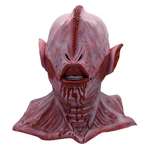 Halloween Mask Realistic Horror Alien Blood Ghost Latex Mask Headgear ()