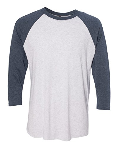 next-level-apparel-6051-unisex-tri-blend-3-by-4-sleeve-raglan-indigo-heather-white-medium