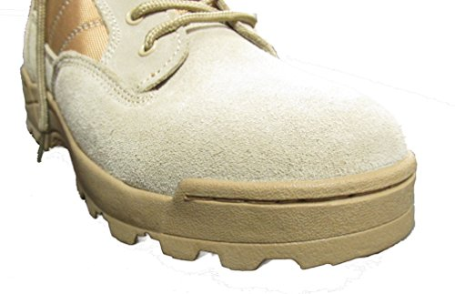 Kids Desert Tan Military Style Boots - DESERT TAN - stylishcombatboots.com