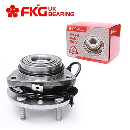 (FKG 513124 Front Wheel Bearing Hub Assembly FOR 97-05 Chevy Blazer 4WD, 97-04 Chevy S10 4WD, 97-05 GMC Jimmy 4WD, 97-04 GMC Sonoma 4WD, 98-00 Isuzu Hombre 4WD, 97-01 Oldsmobile Bravada 5 Lugs W/ABS)