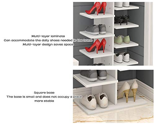 ALUS- Shoe Rack/Shoe Cabinet Simple Multi-Layer Household Storage Cabinet Porch Cabinet Multi-Function Storage Rack Dormitory Dust-Proof Small Shoe Rack (Color : Wood) by Shoe cabinet/Shoe rack (Image #2)