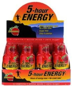 5-hour 5-Hour Energy Pomegranate Flavor 2 OZ (Pack of 24) from Living Essentials - 5 Hour