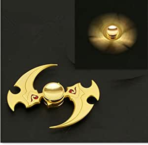 GEMINI Metal Fidget Spinner Toy [3D Figit] Helps Focusing, Stress Reducer/Relief Perfect For Boredom EDC ADD ADHD Anxiety and Autism for Adult & Children, High Speed and Quiet Bearing (Gold)