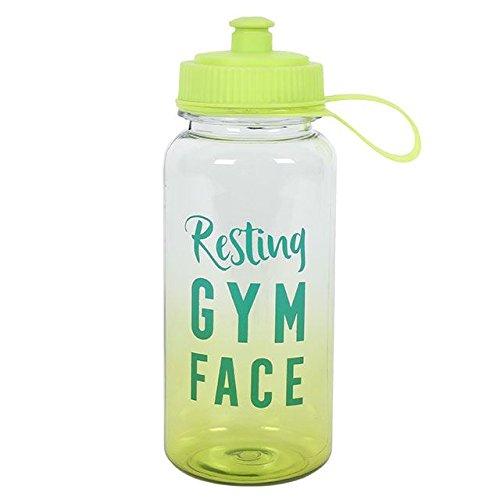 Gimnasio botella de agua Resting gimnasio cara 800ml Something Different
