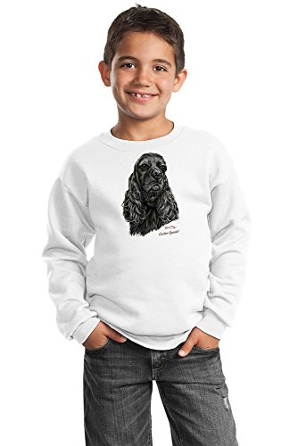 Cocker Spaniel Youth Sweatshirt - Black By Robert May