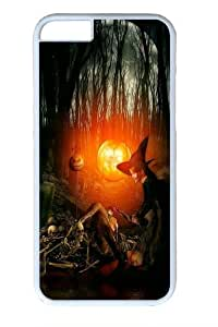 Halloween Witch Polycarbonate Hard For Apple Iphone 4/4S Case Cover inch White