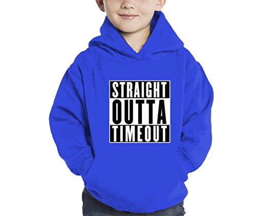 HAASE UNLIMITED Straight Outta Timeout Hoodie Sweatshirt (Royal Blue, 2T)