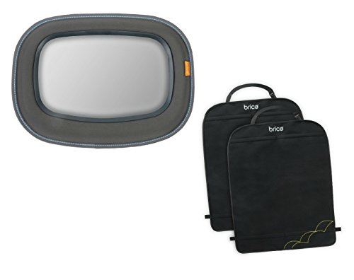 Brica Baby In-Sight Auto Mirror with Deluxe Kick Mat Back