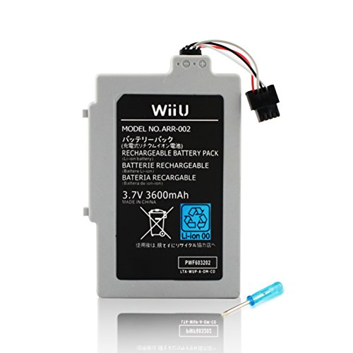 Wii U GamePad 3600 mAh Replacement Rechargeable Battery Pack by Other Future 163 Replacement