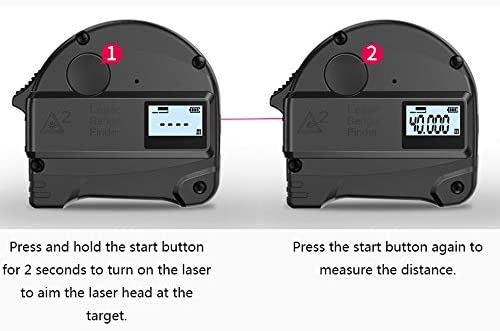30m Laser Distance Measuring Tape, Laser Range Finder High-precision Tape Measure Outdoor Handheld Distance Electronic Ruler Measurement