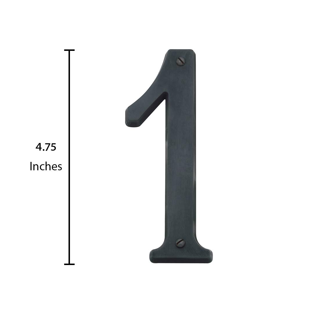 Baldwin Estate 90671.102.CD Solid Brass Traditional House Number One in Oil Rubbed Bronze 4.75 4.75