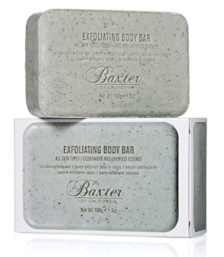 Baxter of California Men's Exoliating Body Bar Soap for Men | Cedarwood and Oak Moss Essence | 7 oz | Holiday Gift Guide